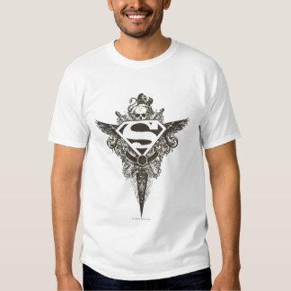 Superman Stylized   Star and Skull White Logo T-shirt