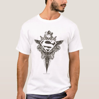 Superman Stylized | Star and Skull White Logo T-Shirt