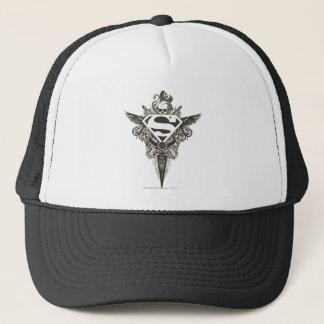 Superman Stylized | Star and Skull White Logo Trucker Hat