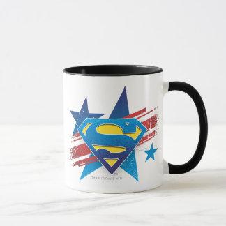 Superman Stylized | Stars and Stripes Logo Mug