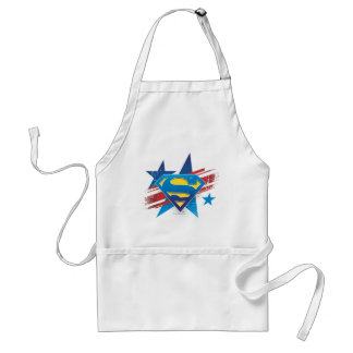 Superman Stylized | Stars and Stripes Logo Standard Apron