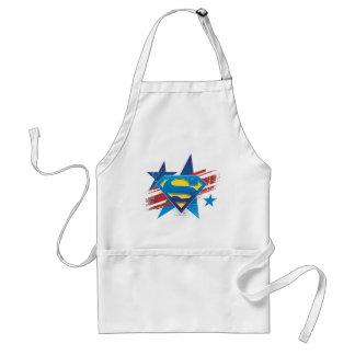 Superman Stylized | Stars and Stripes Logo Standard Apron