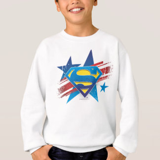 Superman Stylized | Stars and Stripes Logo Sweatshirt