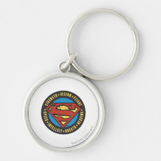 Superman Stylized   Strength Vision Flight Logo Key Ring