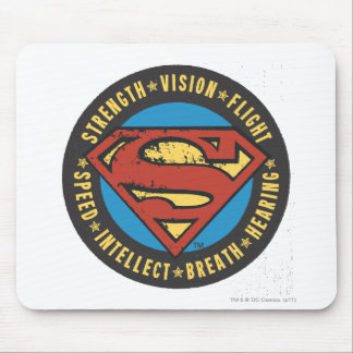 Superman Stylized | Strength Vision Flight Logo Mouse Mat
