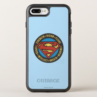 Superman Stylized | Strength Vision Flight Logo OtterBox Symmetry iPhone 8 Plus/7 Plus Case