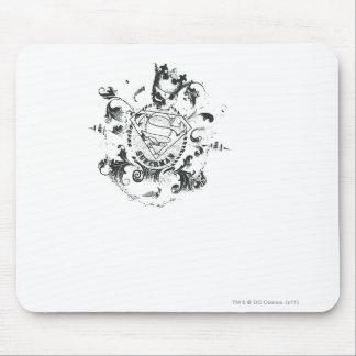 Superman Stylized   Tan Heart Logo Mouse Mat