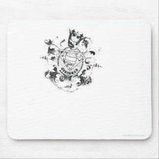 Superman Stylized | Tan Heart Logo Mouse Pad