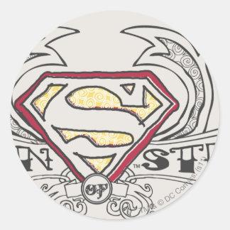 Superman Stylized | Texture Logo Classic Round Sticker