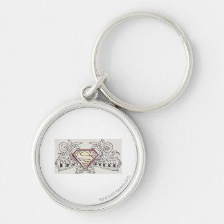 Superman Stylized | Texture Logo Key Ring
