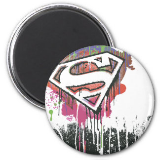 Superman Stylized | Twisted Innocence Logo 6 Cm Round Magnet