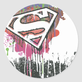 Superman Stylized | Twisted Innocence Logo Classic Round Sticker