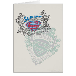Superman Stylized | Two Crest Design Logo Card