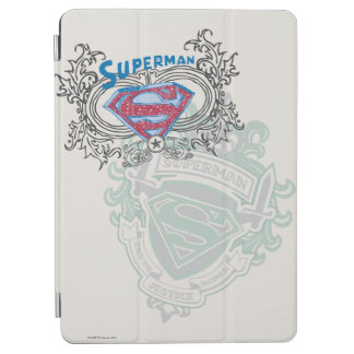 Superman Stylized | Two Crest Design Logo iPad Air Cover
