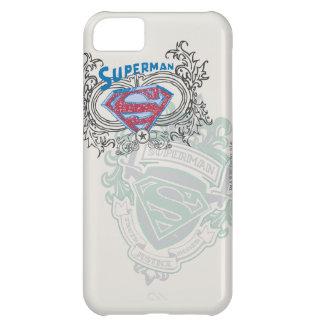 Superman Stylized   Two Crest Design Logo iPhone 5C Case