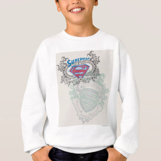 Superman Stylized | Two Crest Design Logo Sweatshirt