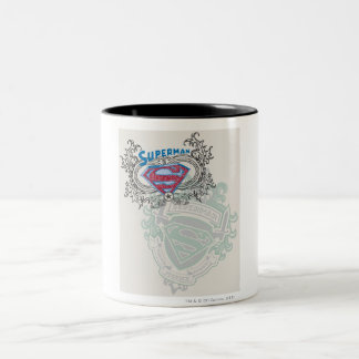 Superman Stylized | Two Crest Design Logo Two-Tone Coffee Mug