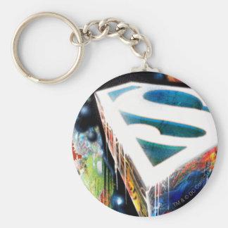 Superman Stylized   Urban Graffiti Logo Key Ring