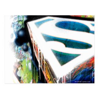 Superman Stylized | Urban Graffiti Logo Postcard