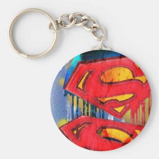Superman Stylized | Urban Spraypaint Logo Key Ring