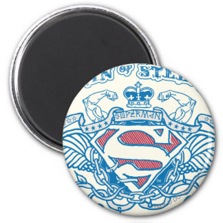 Superman Stylized | Wings and Arms Logo 6 Cm Round Magnet