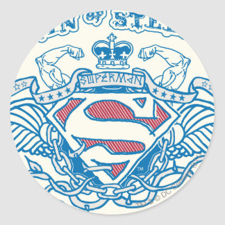 Superman Stylized | Wings and Arms Logo Classic Round Sticker