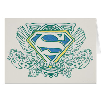 Superman Stylized | Wings and Name Logo Card