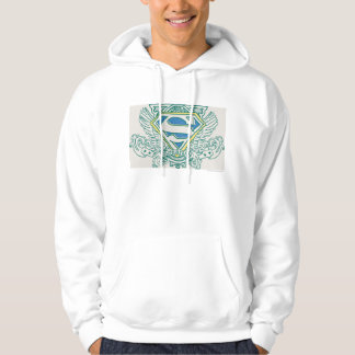 Superman Stylized | Wings and Name Logo Hoodie