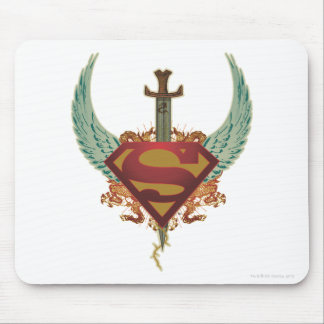 Superman Stylized   Wings Logo Mouse Mat