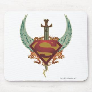 Superman Stylized | Wings Logo Mouse Pad