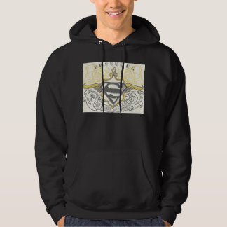 Superman Stylized | Yellow Drawn Trains Logo Hoodie