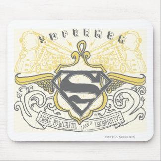 Superman Stylized | Yellow Drawn Trains Logo Mouse Mat