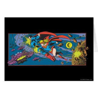 Superman & Supergirl Flying Card