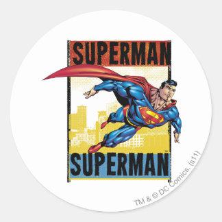 Superman, Superman Classic Round Sticker
