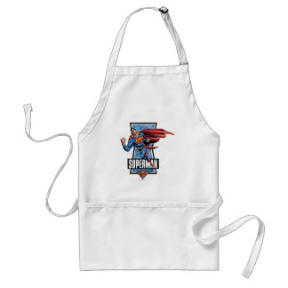 Superman Swings By Adult Apron