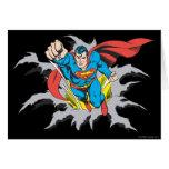Superman Tears Thru Greeting Card