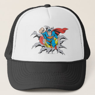 Superman Tears Thru Trucker Hat