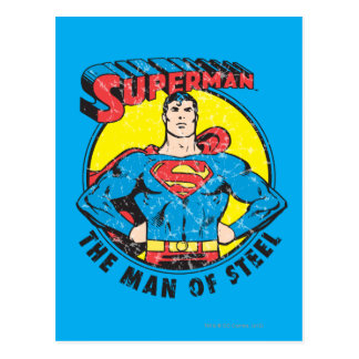 Superman The Man of Steel Postcard