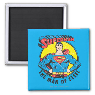 Superman The Man of Steel Square Magnet