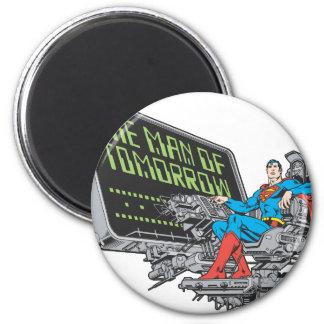 Superman - The Man Of Tomorrow 6 Cm Round Magnet
