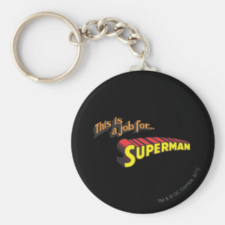 Superman | This is a job for... Logo Key Ring