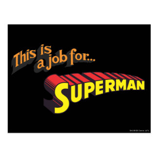 Superman | This is a job for... Logo Postcard