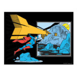 Superman Tunnelling Into Rock Postcard