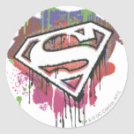 Superman - Twisted Innocence Logo Round Stickers