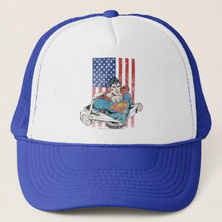 Superman & US Flag Trucker Hat