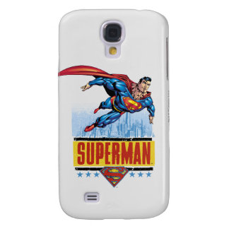 Superman with cityscape galaxy s4 case