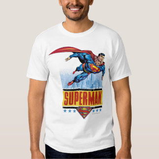 Superman with cityscape t shirt