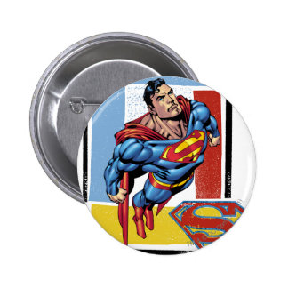 Superman with colorful background 6 cm round badge