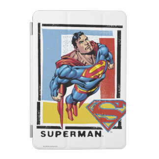 Superman with colorful background iPad mini cover
