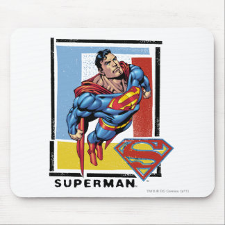 Superman with colorful background mouse mat